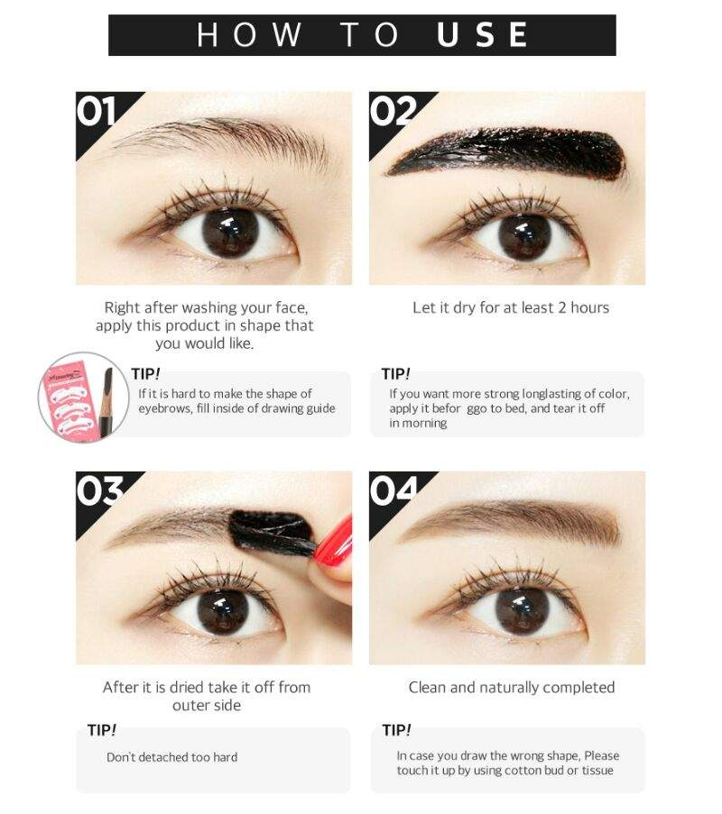 Tonymoly 7 Days Tatoo Eyebrow Vs Secretkey Tattoo Eyebrow Tint Pack