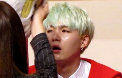 I Already Did A Post About Min Yoongi With Blonde Hair And Now The Green Turqueise Cuz Love This Too Him
