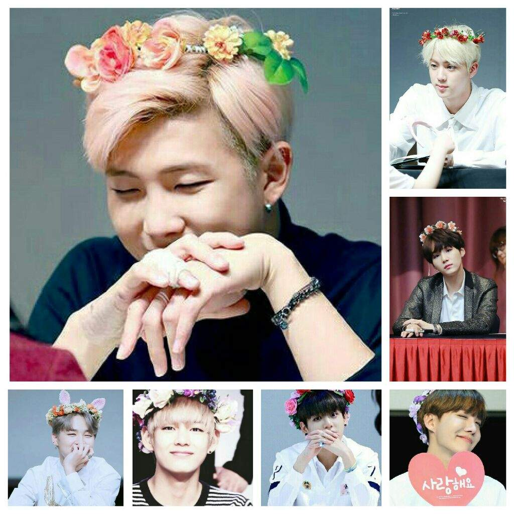 Bts Wearing Flower Crowns Armys Amino