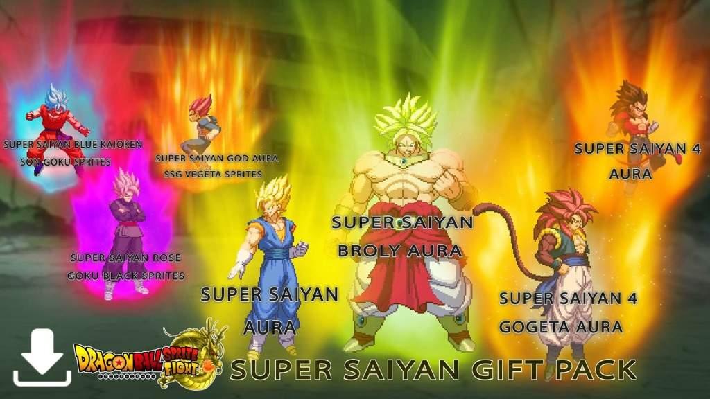 Super Saiyan Sprite Gift Pack Now Avalible Ss3 Bardock Sprite