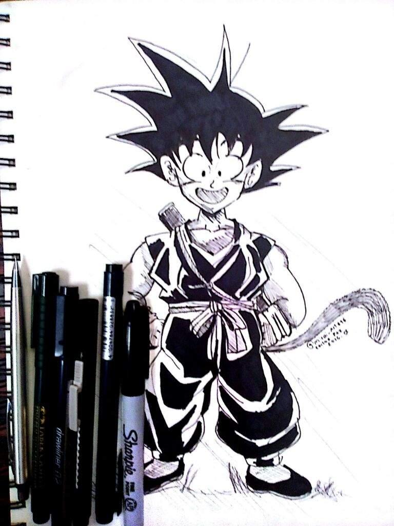 Dibujo De Son Goku Nino Estilo Manga Dibujos Y Anime Amino