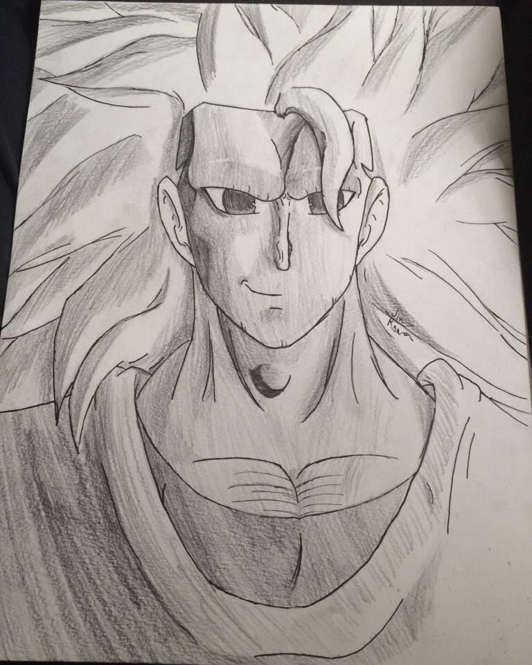 Super Saiyan 3 Goku Drawing Dragonballz Amino