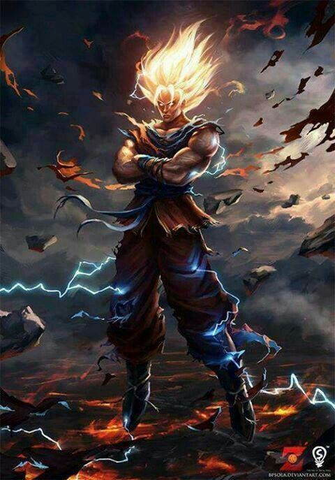 Super Saiyan Is The Natural Transformation Of Race First Introduced In Fight Against Frieza Goku Achieved This After Watching Murder