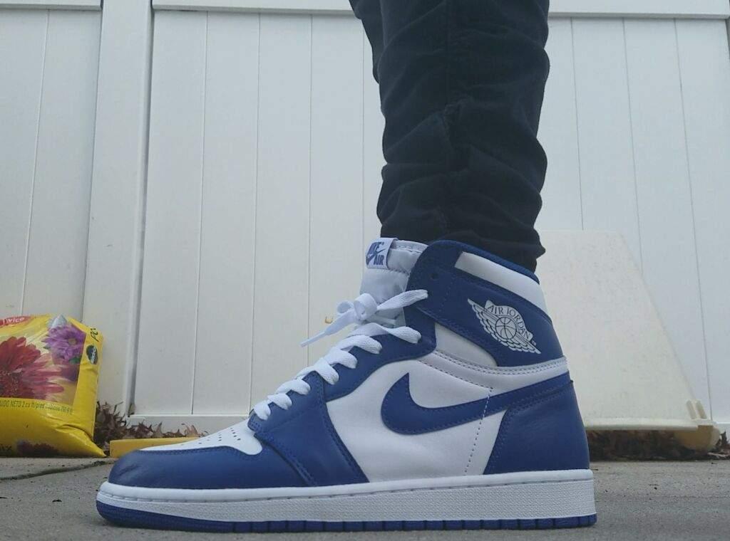 Air Jordan 1 Storm Blue On Feet