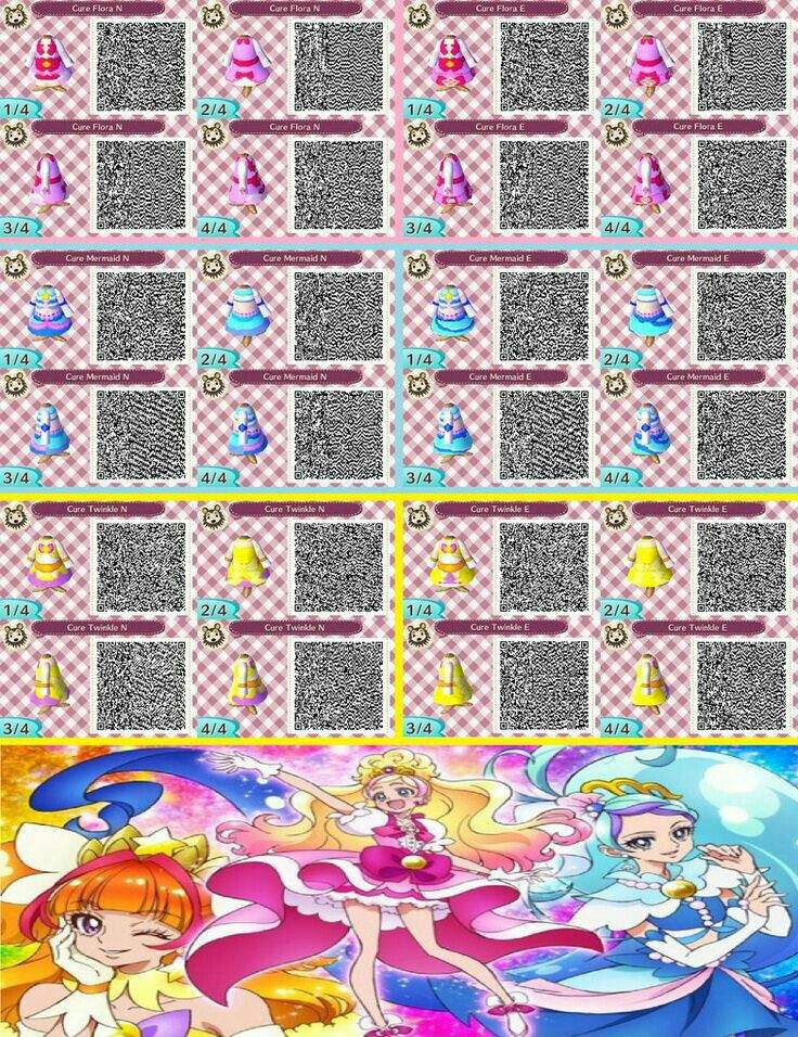 Amato I found Precure qr codes for animal crossing new leaf players  ME44