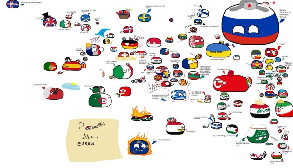 The Map Of Europe North Africa And The Middle East 2017 Polandball