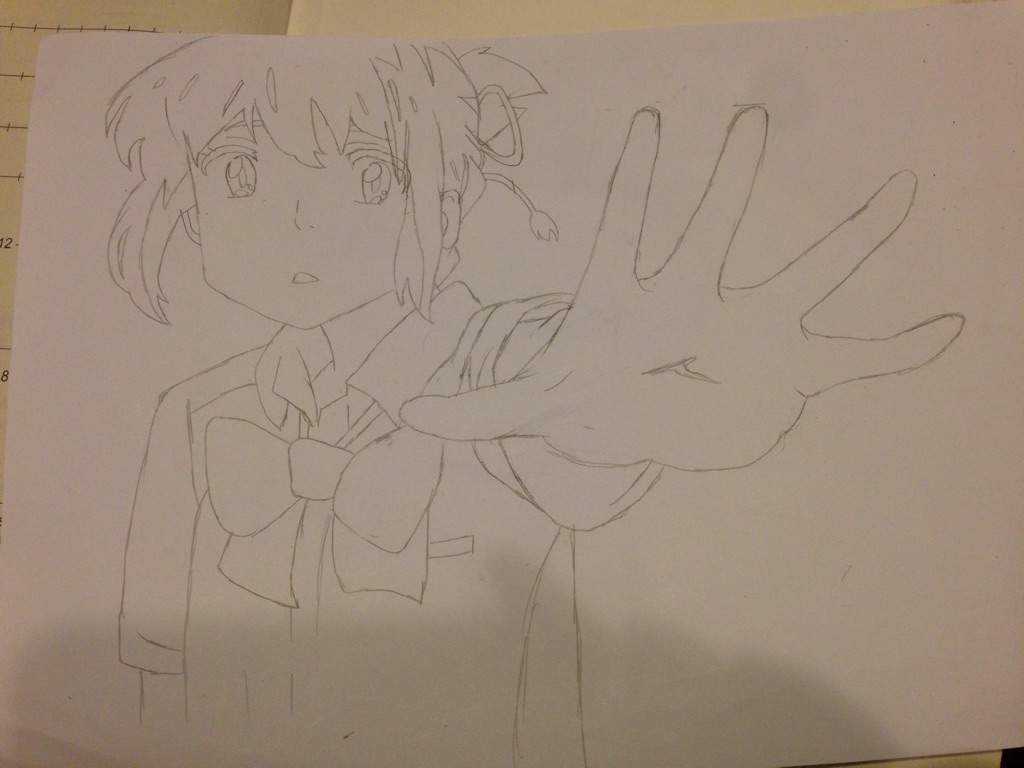 Drawing Mitsuha from Kimi No Nawa