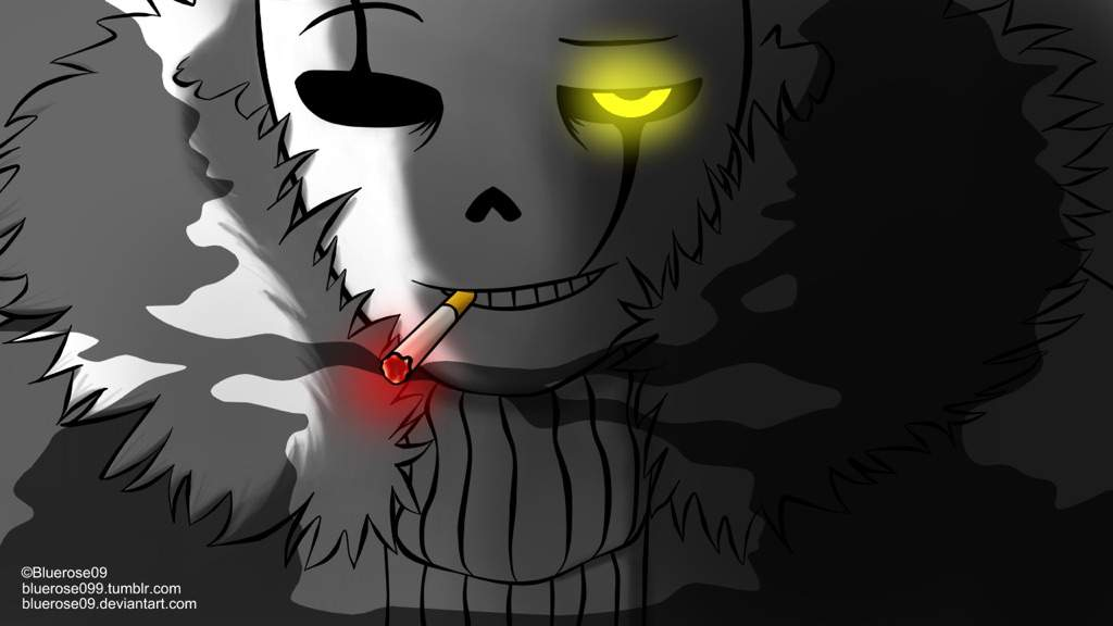 Gaster Sans Smoking Glare Wallpaper Undertale Amino