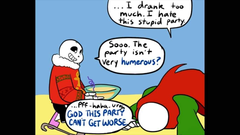 Christmas Party Au Comic.Au Christmas Party Drunk Geno Undertale Amino