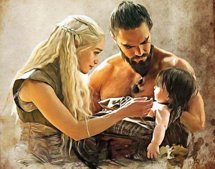 Khal Drogo y Daenerys ...