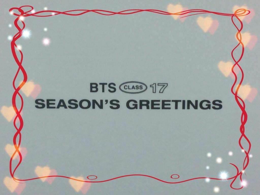 Bts 2017 Seasons Greetings Unboxing Armys Amino