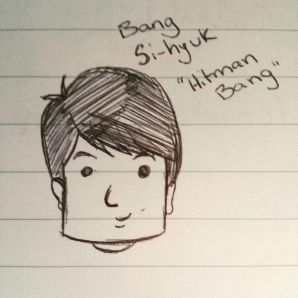 Bang Shi Hyuk Hitman Bang Sketch Army S Amino