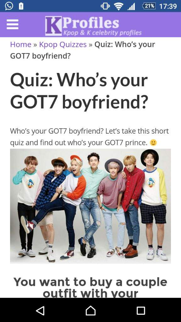 I don't know if this quiz is accurate or not but I am one who does enjoy an  occasional quiz here and there so I went for it!