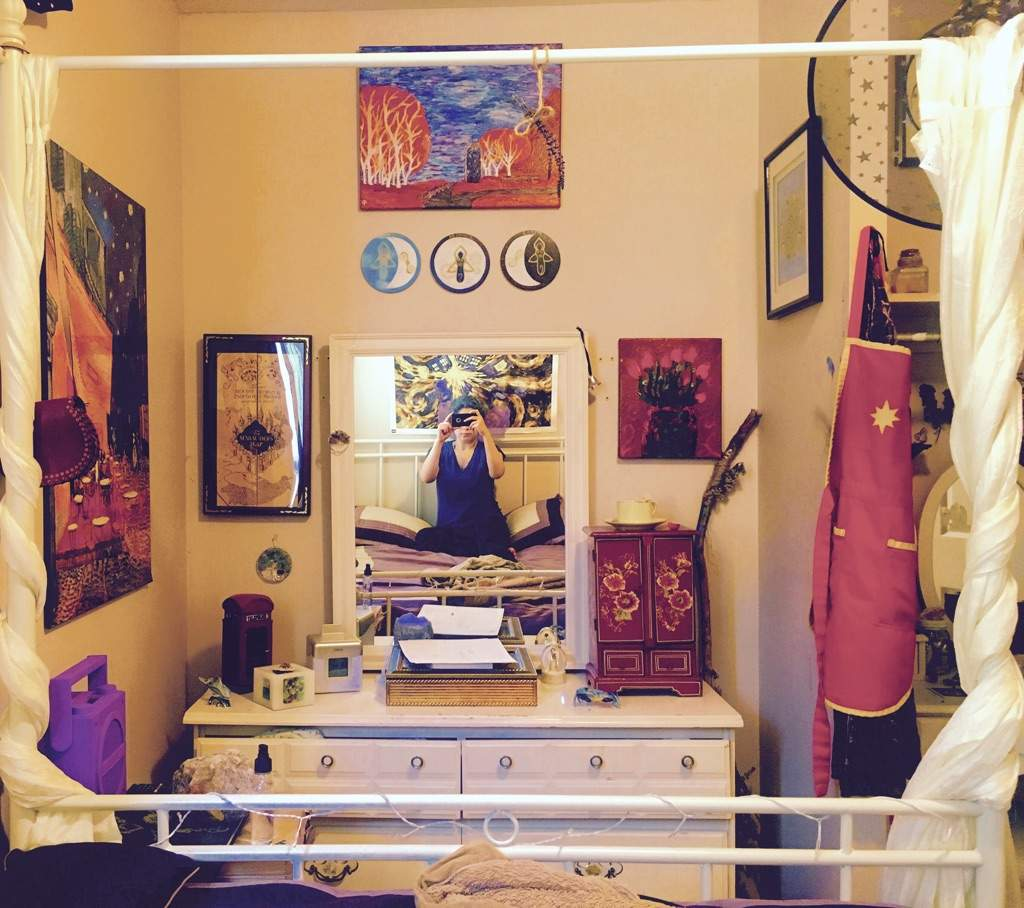 Marvelous ... To Have My Artwork That I Made Myself And Are All My Own Designs  Hanging On The Walls. Itu0027s Like A Little Wiccan Gallery Or Magick Shop In  My Room!!