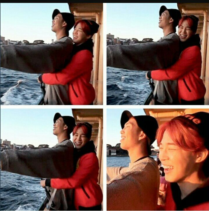 Rap Mon and Jimin doing the Titanic pose😂😂 | ARMY's Amino