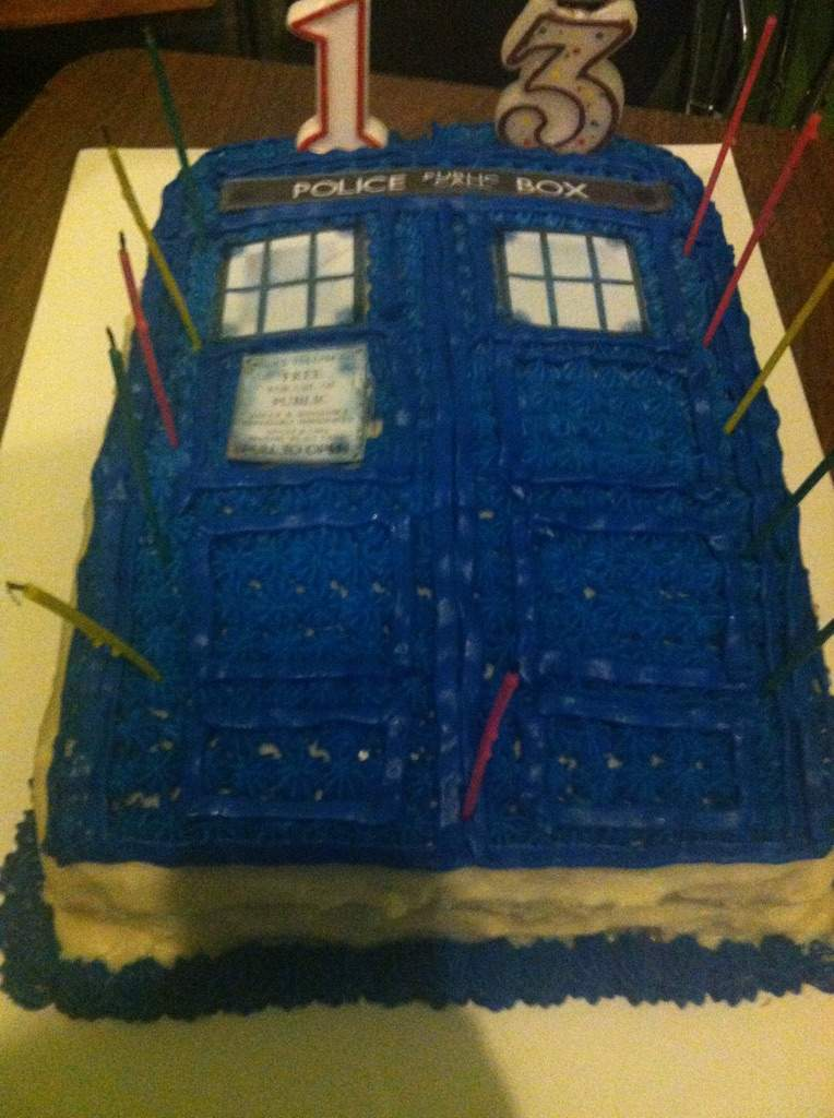Cool Tardis Birthday Cake Doctor Who Amino Funny Birthday Cards Online Alyptdamsfinfo