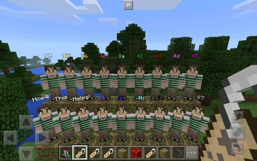 Minecraft PE Custom NPCs Mod Color Guide | Minecraft Amino
