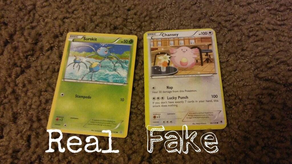 how to tell if you have fake pokemon cards