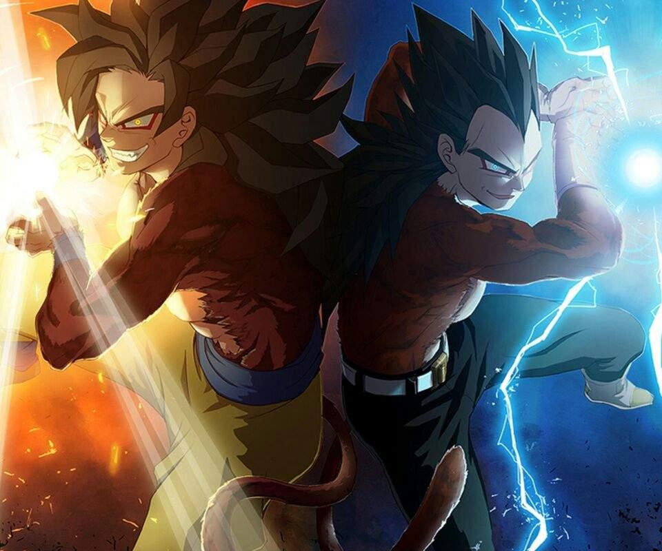 Goku Y Vegeta SSJ4