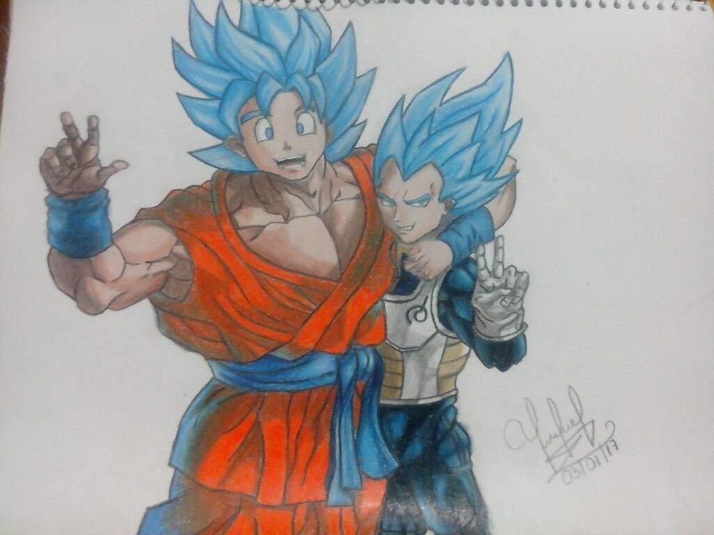 Imagenes De Gogeta Y Vegito Para Dibujar: Fan-art De Goku Y Vegeta