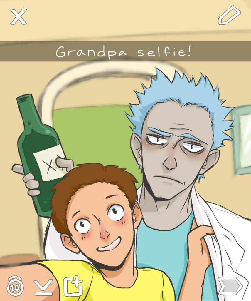 Rick and morty snapchat