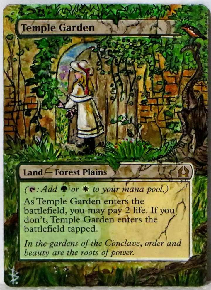 altered art temple garden mtg amino - Temple Garden