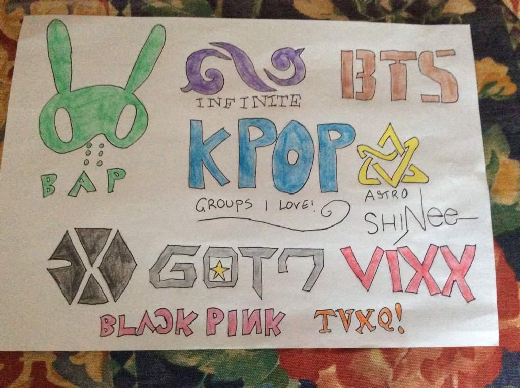 kpop logo drawings k pop amino
