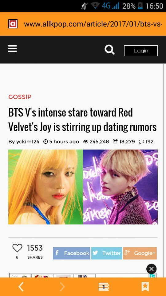 Red velvet joy dating rumors