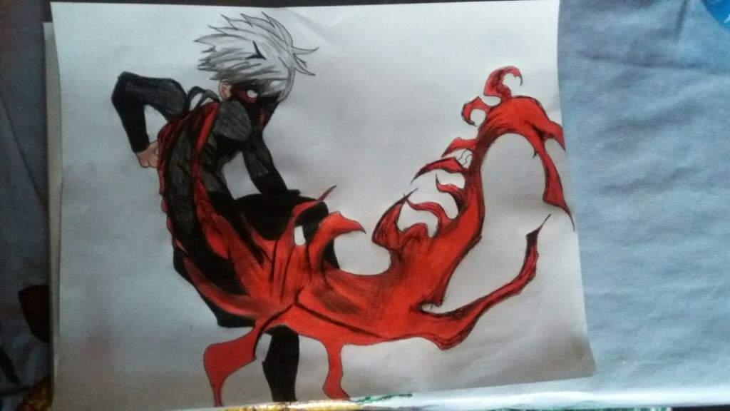 Dibujo Ken Kaneki Kakuja!!
