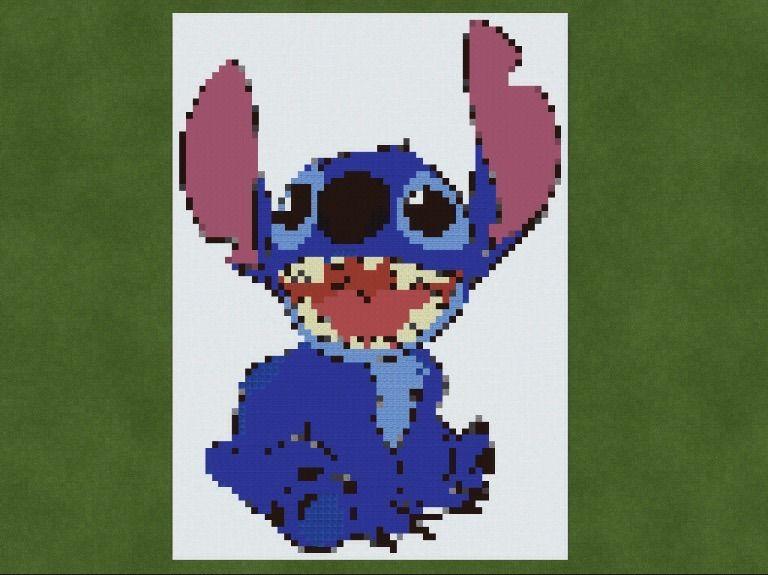 Stitch Pixel Art Minecraft Amino
