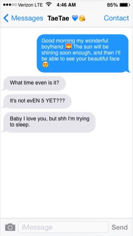 Text sending a goodmorning 107+ Good