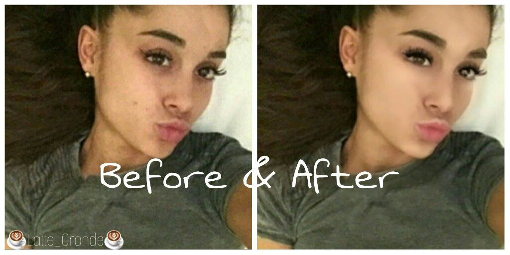 Before And After Makeup Ariana Grande