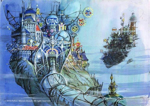 The Picture heart Learned from Anime Art Shichiro Kobayashi Background art Book