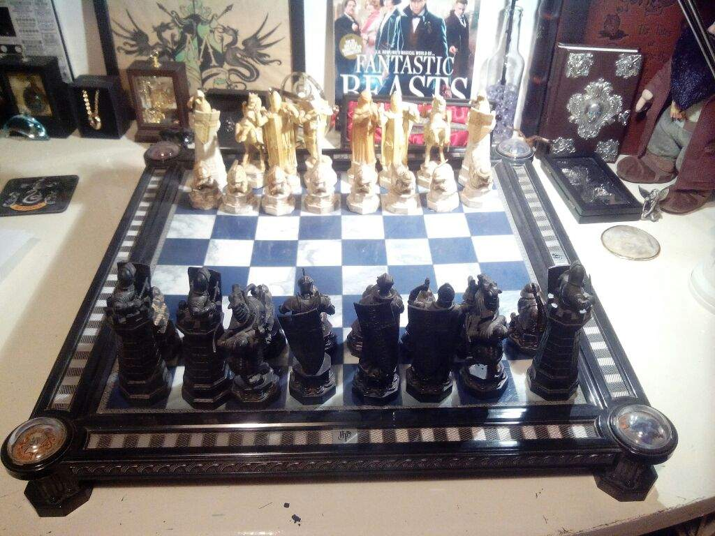 itu0027s my final challenge chess set each piece came out in an issue of a harry potter chess magazine a long time ago i collected the set