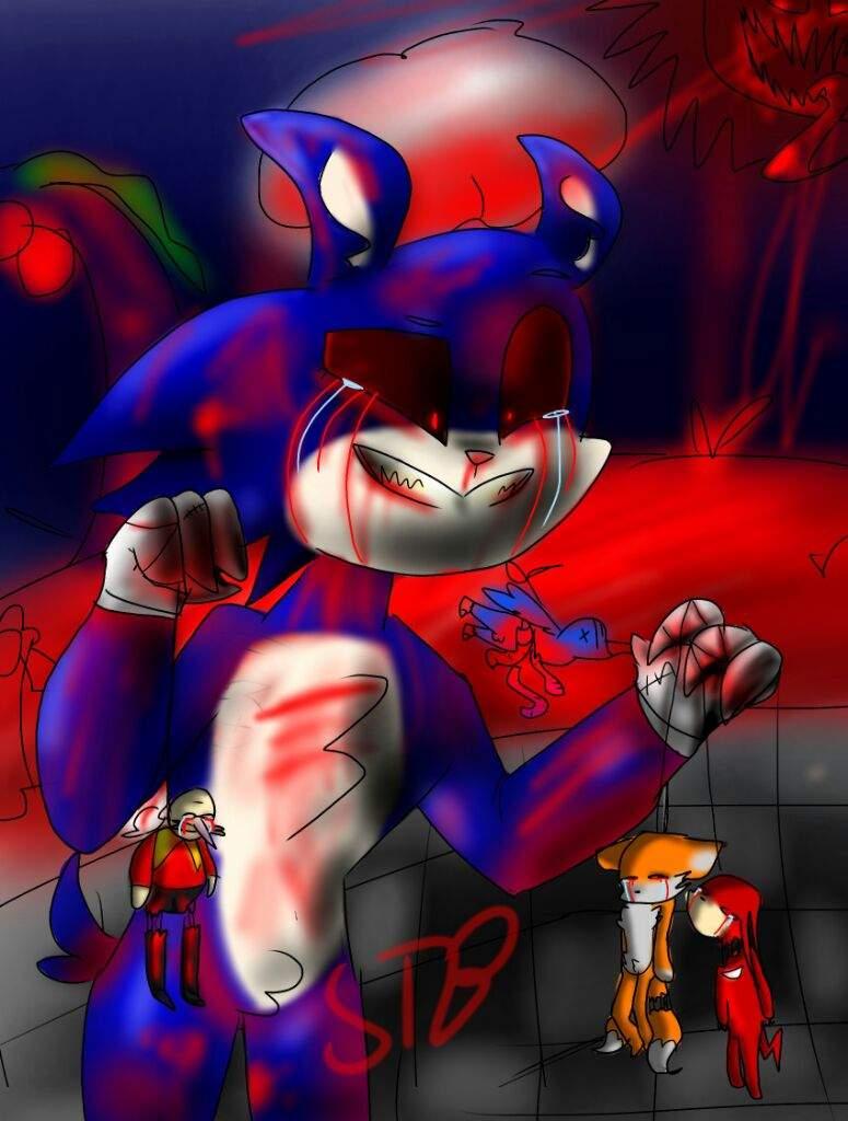 Sonic Exe Fanart Sonic The Hedgehog Amino