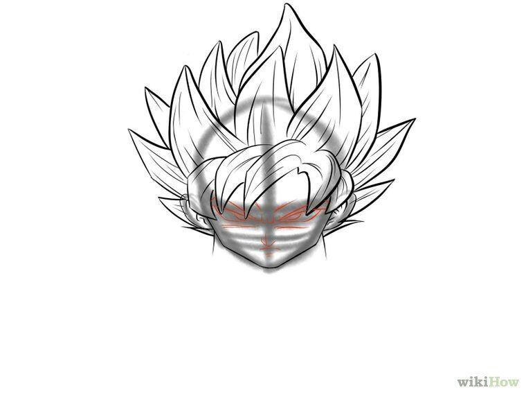 como desenhar o goku super sayajin passo a passo dragon ball