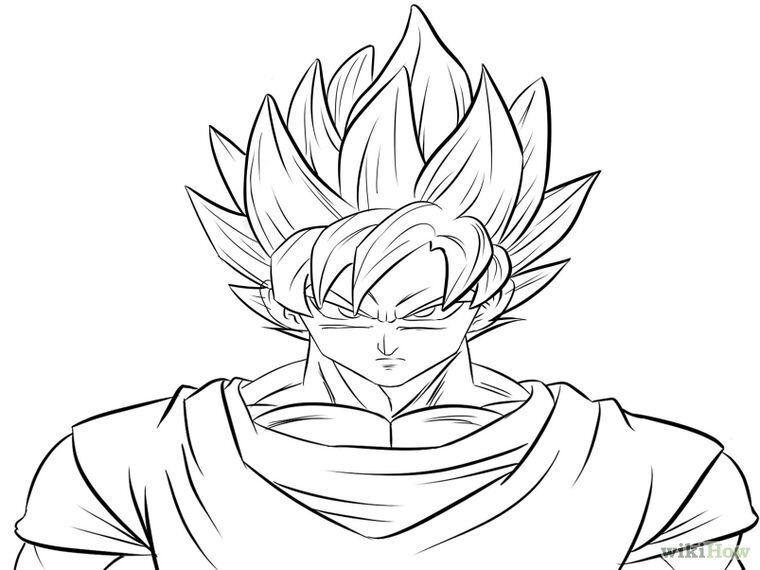 Desenhos Para Colorir Dragon Ball Z Goku Super Sayajin 4