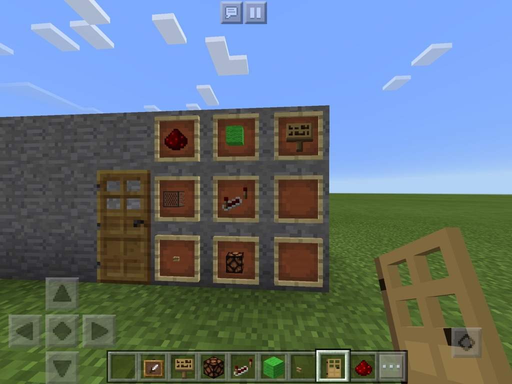 The Materials Are Simple, You Will Need Green Wool, Red Stone Dust, A Sign  (optional) A Note Block, A Lamp, A Redstone Repeater, And Finally A Button  (or ...