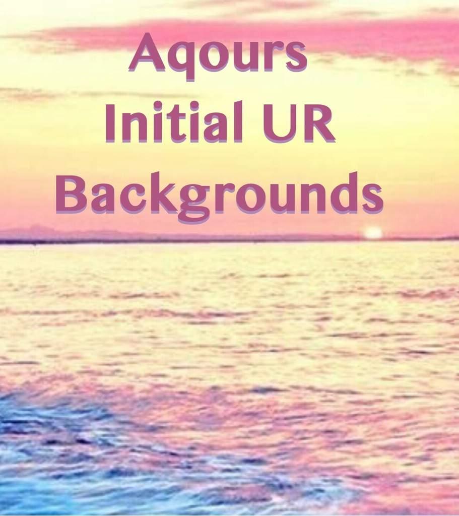 aqours ur backgrounds love live amino