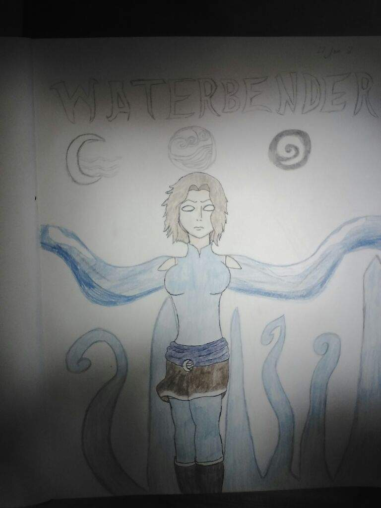 Bendingchallenge avatar amino the symbols above her head is water symbols the moon and three waves is the symbol of the water tribe a waning crescent moon with three waves biocorpaavc Image collections