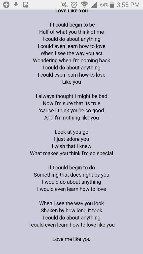 I like you for you lyrics
