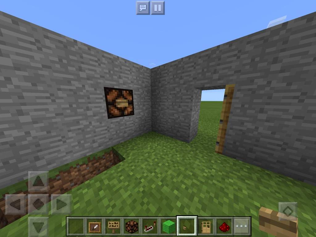 on a the side of one of your walls (if you have enough space do it beside your door if you want) dig one block. & TUTORIAL||| HOW TO MAKE A SIMPLE DOORBELL | Minecraft Amino