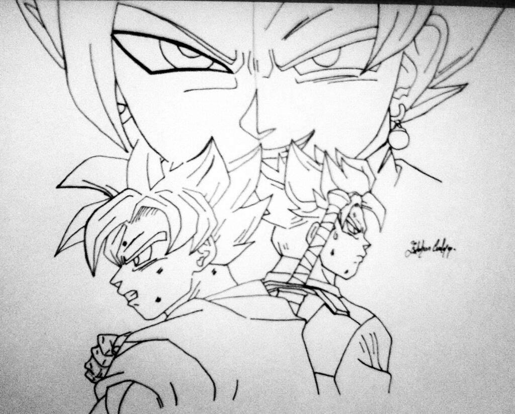 Black Goku Para Colorear: Dibujo Arco De Black Y Zamasu 😬😆