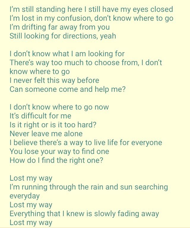 Lyric come away with me lyrics : BTS~Lost ! | ARMY's Amino