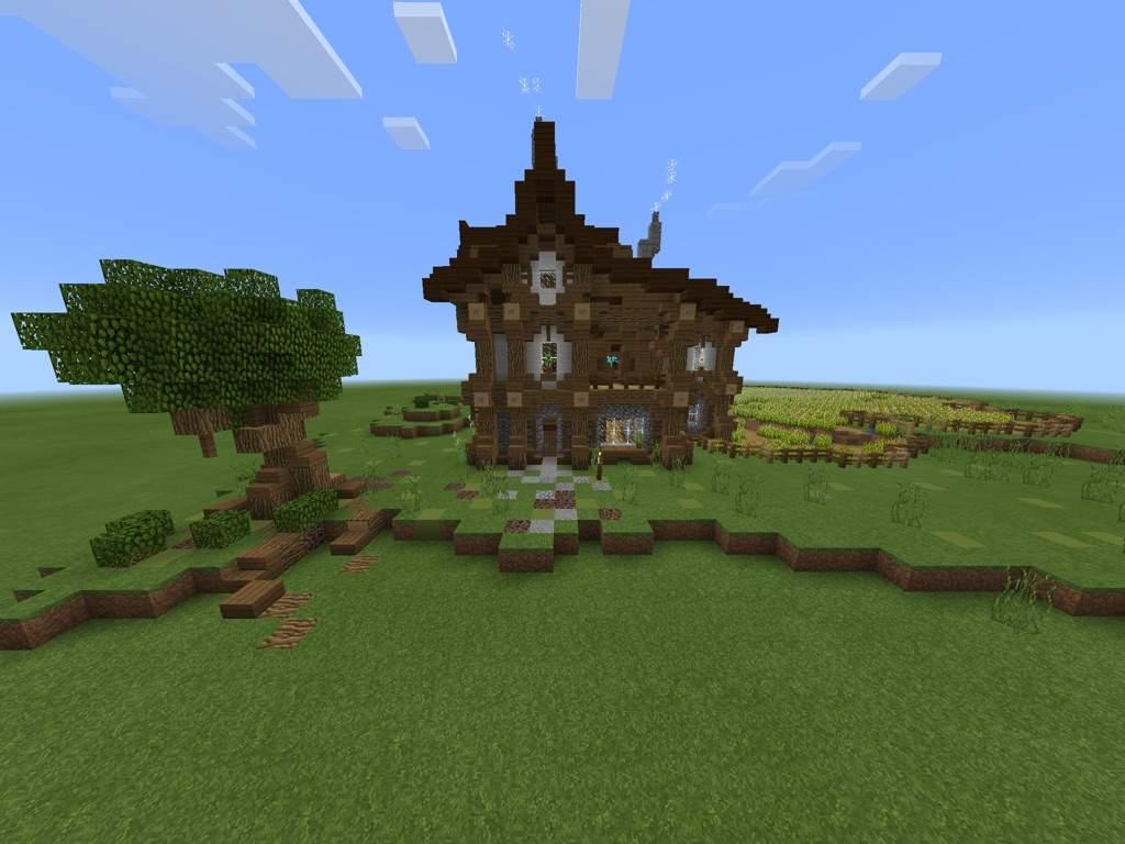 large medieval farmhouse minecraft amino. Black Bedroom Furniture Sets. Home Design Ideas
