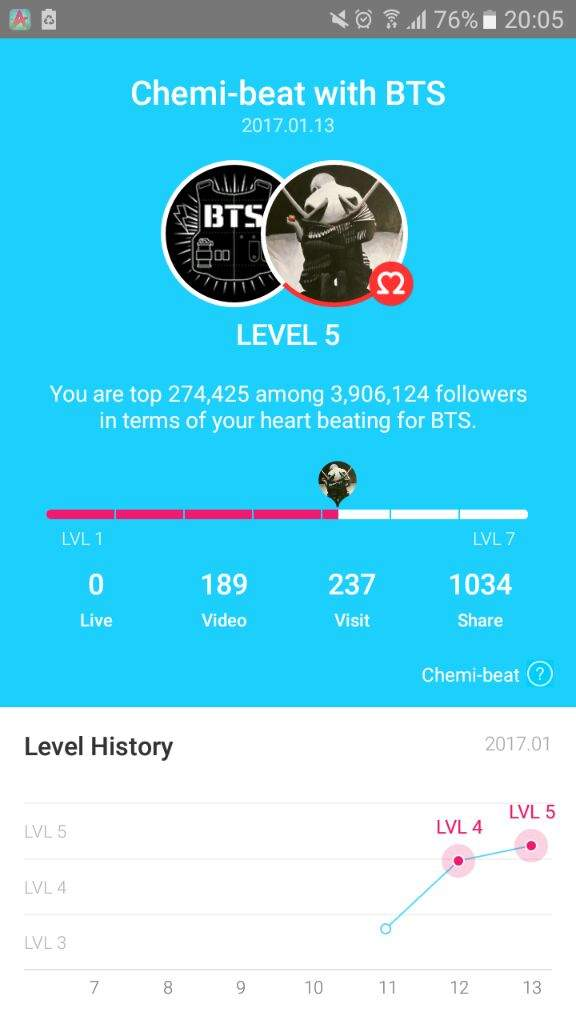 BTS on vlive + level up fast! Lv 5 in 2/3 days | ARMY's Amino