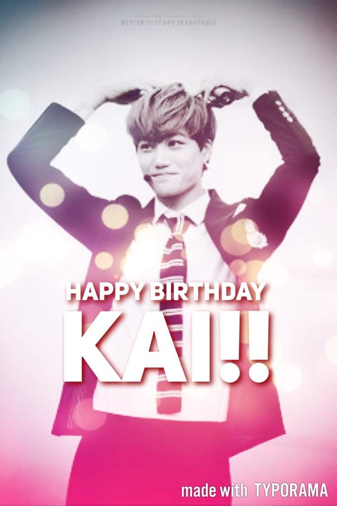 happy birthday kai w letter exo ls amino