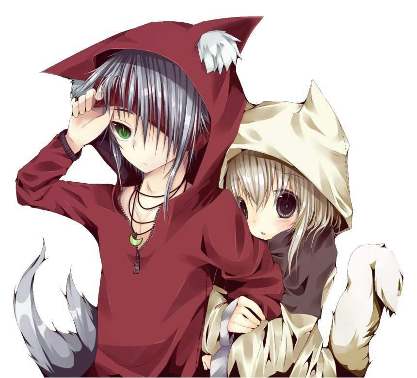 Wolf boy and wolf girl part 2 (pics) | Anime Amino