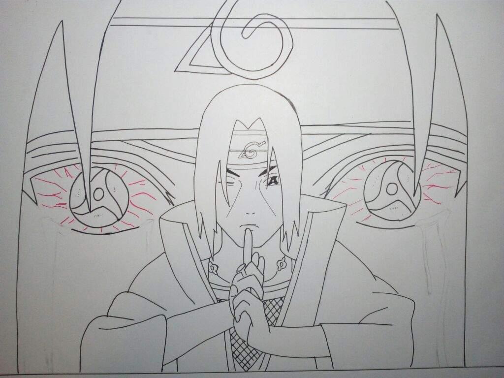 Dibujo Itachi Uchiha Shonen Amino Amino