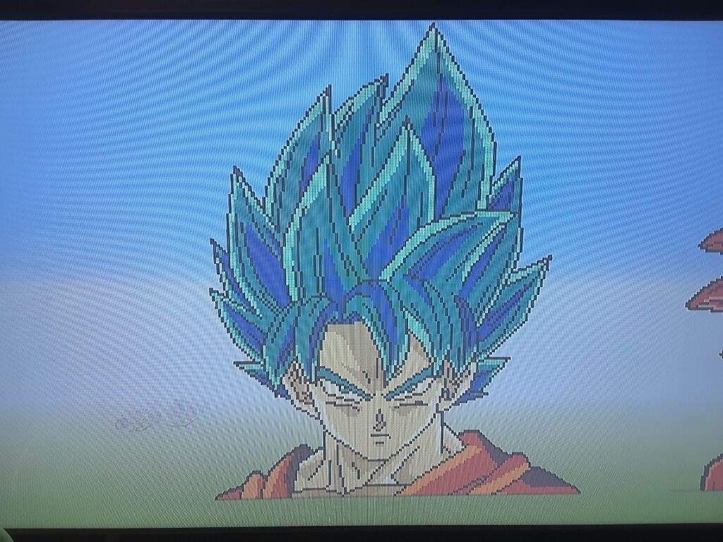 Goku Ssj Blue Pixel Art Dragonballz Amino